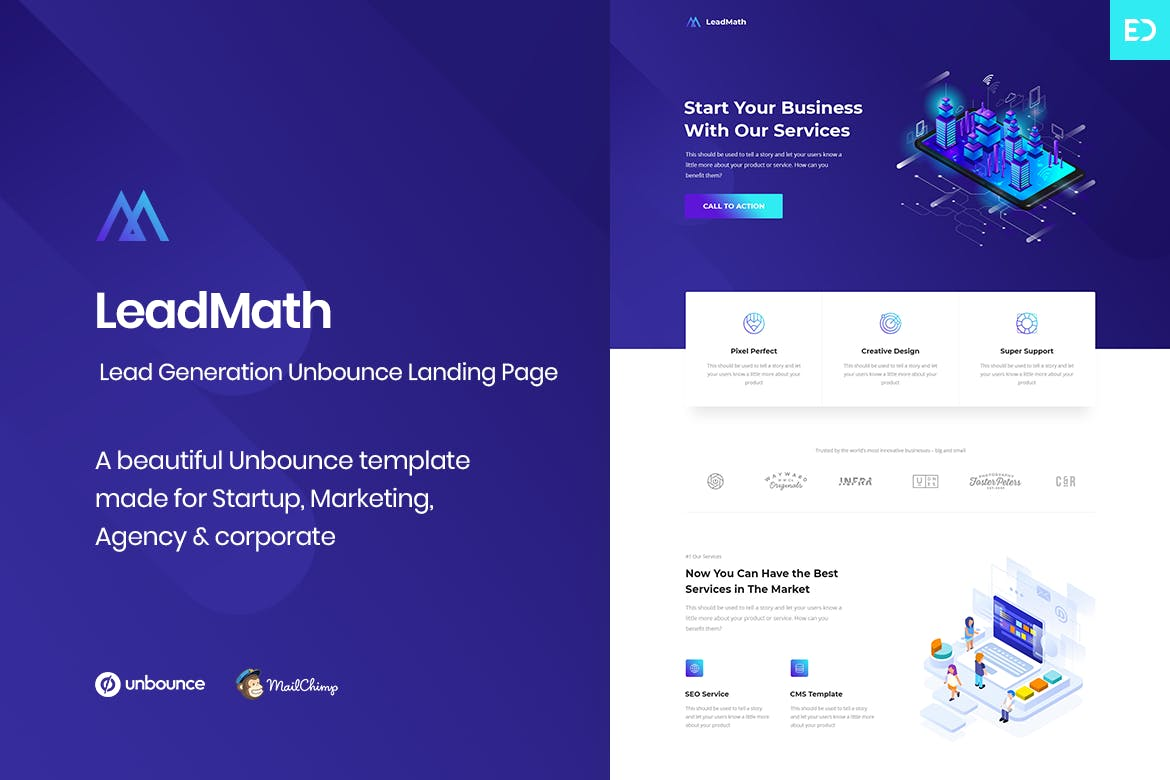 Leadmath Lead Generation Unbounce Landing Page Pro Share