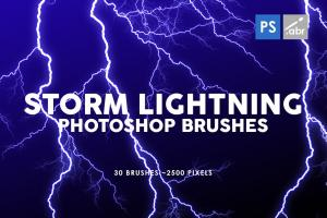 30-storm-lightning-ptohoshop-stamp-brushes-3