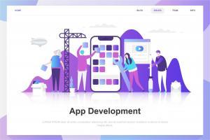 app-development-flat-concept