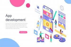 app-development-isometric-concept
