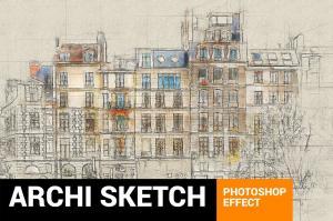 architectum-3-archi-sketcher-photoshop-action1