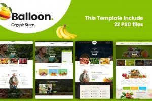 balloon-organic-farm-food-business-template
