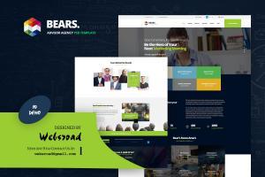 bears-advisor-agency-psd-template