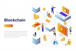 blockchain-and-cryptocurrency-isometric-concept