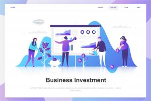 business-investment-flat-concept