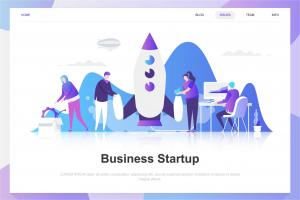 business-startup-flat-concept