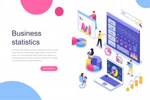 business-statistic-isometric-concept