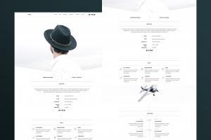 canoe-one-page-minimal-portfolio-theme