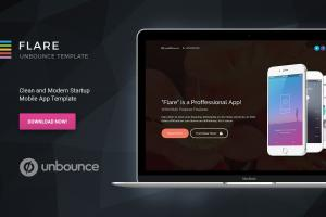 flare-unbounce-startup-landing-page