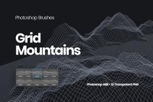 grid-mountains-photoshop-brushes-2