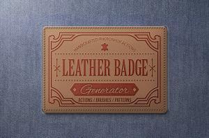leather-badge-generator-photoshop-actions-1
