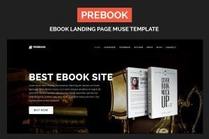 prebook-ebook-landing-page-responsive-adobe-muse