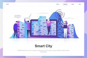 smart-city-flat-concept