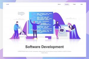 software-development-flat-concept