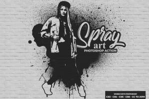 spray-art-photoshop-action
