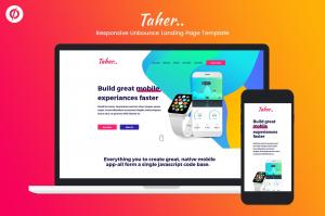taher-responsive-unbounce-landing-page-template