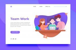 team-work-landing-page