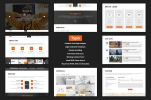 typo-one-page-muse-template