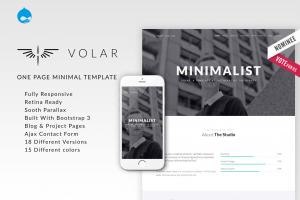 volar-one-page-minimal-parallax-drupal-theme